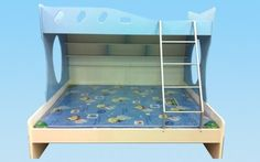 """Bunk Bed Model 2029 Dimensions  Upper bed size: 75""""x36"""" Lower bed size: 75""""x60"""" Pull-out bed size: 72""""x36"""" and 72""""x48"""" Price: Rs.51,200/- Rs.55,050/- for 3' pull-out Rs.55,600/- for 4' pull-out  Mattress is extra. Please email for prices. visit http://kidsfurnitureworld.in/bunk-beds.html"""