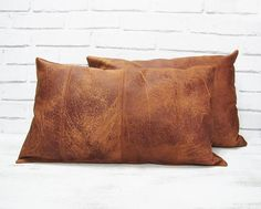 Fast Shipping/Terracotta redish brown & 16 color faux leather pillow cover with decorative stitches/modern scandinavian home decor Leather Pillow, Faux Leather Fabric, Leather Throw Pillows, Cowhide Leather, Home Design, Interior Design, Interior Decorating, Decorating Ideas, Design Ideas