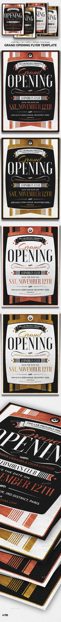 Salon Grand Opening Flyer Template Flyer template, Grand opening - grand opening flyer
