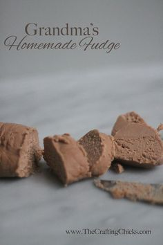 I remember countless Christmas' sitting around the kitchen counter helping my mom make my Great Grandma. Fudge Recipes, Candy Recipes, Holiday Recipes, Dessert Recipes, Homemade Fudge, Homemade Candies, Just Desserts, Delicious Desserts, Yummy Food