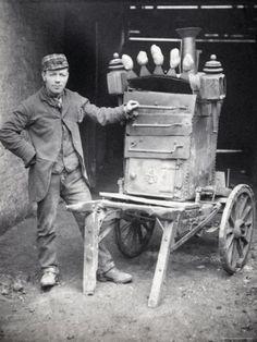 Baked Potato Seller, 1892   by Edgar Scamell