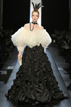 Jean Paul Gautier  I can leave the hat but love the gown....
