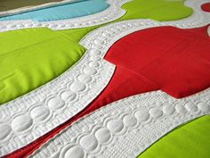 """Love this quilting in progress by Jenny Pedigo.  Sew Kind Of Wonderful: """"Crazies"""" in my head!"""