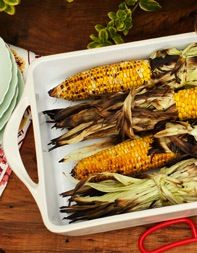 Grilled corn with chipolte crema