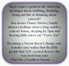 You are the deadbeat parent who couldnt put your own child first above all else, shame on you!!!!!!