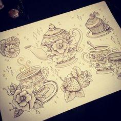would love a teapot tattoo Dream Tattoos, Future Tattoos, Love Tattoos, Beautiful Tattoos, New Tattoos, Body Art Tattoos, Tatoos, Ink Tattoo, Tattoo Foto