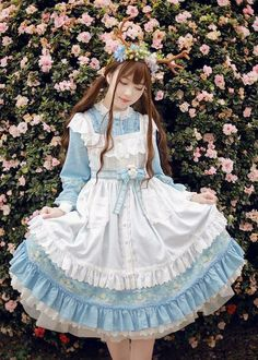 LolitaWardtobe - Bring You the latest Lolita dresses, coats, shoes, bags etc from Trustworthy Taobao indie Brands. We never resell Lolita items from untrustworthy Taobao stores. Harajuku Fashion, Kawaii Fashion, Lolita Fashion, Cute Fashion, Asian Fashion, Fashion Outfits, Gothic Fashion, Estilo Lolita, Mori Girl