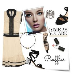 """""""come as you are"""" by theworldisatourfeet ❤ liked on Polyvore featuring self-portrait, Gianvito Rossi, Repossi, Aesop, Sigma Beauty, ruffles, polyvorecommunity and polyvoreeditorial"""
