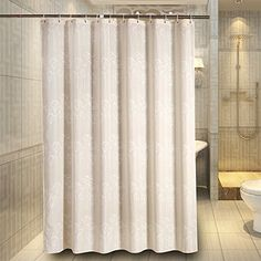 Fabric Shower Curtain Liner_Sets Bathroom BathShower Curtains XWide Extra Wide Bath Shower Curtain 108 x 72 Inches for Bathroom Bathtub Beige White Flowers -- Click image to review more details.