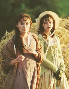 Keira Knightley (Elizabeth Bennet) & Carey Mulligan (Kitty Bennet) - Pride & Prejudice (2005) directed by Joe Wright #janeausten