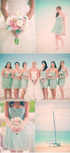 Color menta para bodas #Damas