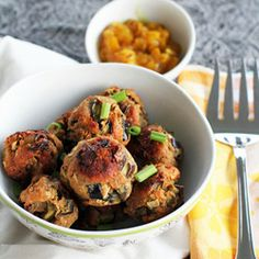 Vegetarian Eggplant Meatballs, great for football tailgating parties