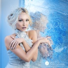 Snow queen near frozen mirror - Beautiful young woman in crown and silver top standing near frozen mirror. Cool Sculpting, Silver Tops, Snow Queen, Face And Body, Young Women, Frozen, Flower Girl Dresses, Mirror, Disney Princess