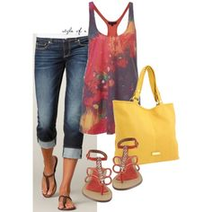Bright Colors by styleofe on Polyvore featuring French Connection, American Eagle Outfitters, Nine West and Steve Madden