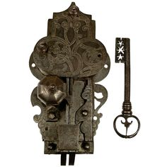 Large, 16th Century Etched Lock and Key http://www.1stdibs.com/furniture/more-furniture-collectibles/more-antique-vintage-finds/
