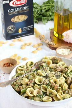 Recipe: Orecchiette with Broccoli Rabe & Sausage