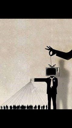 Mind control for the masses... who's pulling the strings that make 'you' think what they want you to. Artist: unknown. SkullyBloodrider.