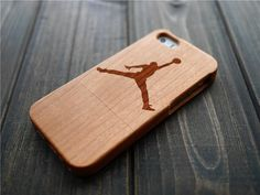 Cherry Wood Jordan iPhone 5 5s Case Holder  Wood by BlessingCard