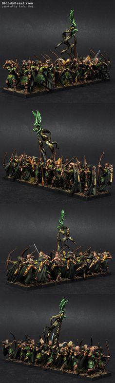 Wood Elf Glade Guards painted by Rafal Maj (BloodyBeast.com)