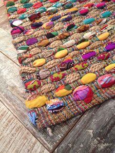 STUNNING FAIR TRADE INDIAN THICK SLUB WEAVE MULTI COLOURED RAG RUG 90cm x 150cm in Home, Furniture & DIY, Rugs & Carpets, Rugs | eBay