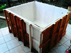 How to build the wood jacuzzi