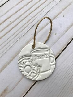For the Coffee Lover - Coffee Favors For Wedding - Coffee gifts - coffee themed packaging - donut tags - coffee tags - clay tags - coffee and a donut - donut - mini ornament - coffee lover wedding - favors - gifts for guests