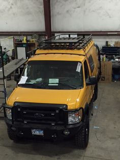 Sportsmobile with Aluminess roof rack, ladder and front bumper 4x4 Camper Van, Truck Camper, Ambulance, 4x4 Van Conversion, Lifted Van, Ford E250, Overland Truck, Minivan Camping, Campervan Ideas