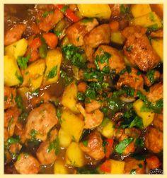 Stew Chicken 🇹🇹 Trinidad Culture, Stew, Pork, Chicken, Ethnic Recipes, Kale Stir Fry, Pork Chops, Cubs