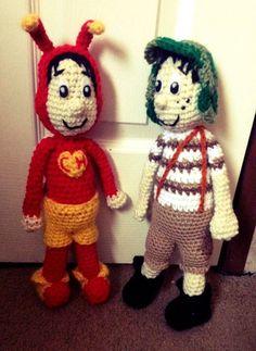 El chapulin coloraro y el chavo del 8 - crochet