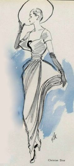 1948-49 -  Christian Dior dress ligne Ailée