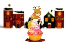 Be ready to faint with these super adorable handmade Rudolph the Reindeer Cupcake Toppers. A fun decor addition to your Holiday or Children's party! My perfectly manicured and embellished toppers are sure to give your party a very special touch. Safari, Reindeer Cupcakes, Paper Lace Doilies, Rudolph The Red, Red Nosed Reindeer, Scrapbook Embellishments, Party Entertainment, Felt Toys, Childrens Party