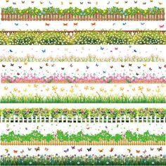 Flores grama plantas de jardim floral fronteira rodapé adesivos de parede decalques wallpaper mural removível à prova d' água diy decoração da sua casa