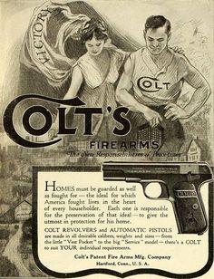 1919 Ad Colt Firearms M1911 .45 Pistol
