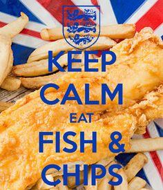 KEEP CALM EAT FISH & CHIPS, BRITISH