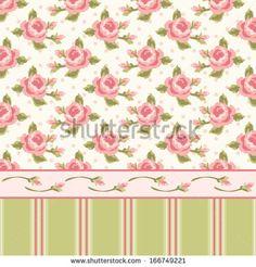 Shabby Chic Wallpaper Border