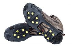 Large and Extra LargeSize ForSafe Climbing and Hiking Medium Studded Snow Grips//Ice Cleats//Over Shoe Grips Available in Small
