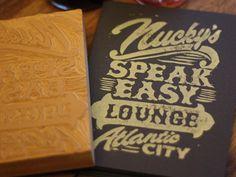 Nucky's Speakeasy Lounge - Block Print by Derrick Castle