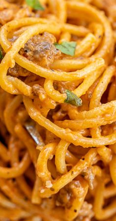 """Instant Pot Cream Cheese Spaghetti - Tracy says """"This was delicious. Made with beef and pasta. Could be fine with cream cheese. Power Pressure Cooker, Instant Pot Pressure Cooker, Pressure Cooker Recipes, Pressure Cooking, Pressure Cooker Spaghetti, Pressure Pot, Crockpot Recipes, Cooking Recipes, What's Cooking"""