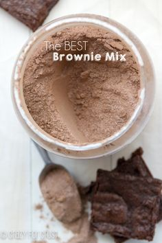 This homemade brownie mix makes it so easy to make brownies!