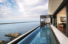 Hilton Busan, Ananti Penthouse Haeundae – Interiors / SKM Architects, Ken Min Korean Design, Small Room Bedroom, Busan, Luxury Homes, Stairs, Construction, Architecture, Interiors, Water
