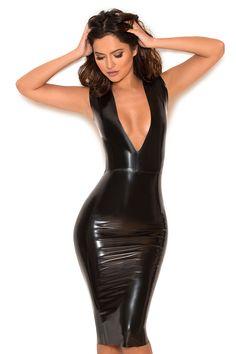 The Rivera Latex Dress