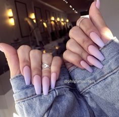 Pin by Yinet on Nailed in 2019 Purple Ombre Nails, Pastel Nails, Summer Acrylic Nails, Best Acrylic Nails, Nail Swag, Airbrush Nails, Lavender Nails, Aycrlic Nails, Glitter Nails