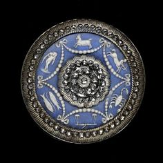 Stunning Antique cut steel and Wedgwood Button.  Circa 1800