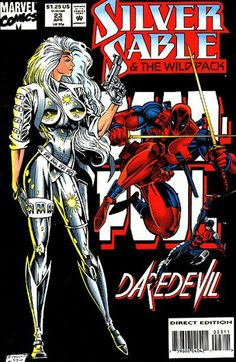 Silver Sable and the Wild Pack Deadpool and Daredevil Appearance VF/NM - Marvel Comics Comic Book Covers, Comic Books Art, Comic Art, Disney Marvel, Marvel Vs, Character Drawing, Comic Character, Tiger Artwork, Marvel Comic Universe