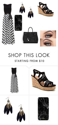 """Stripes"" by cute-outfits25 on Polyvore featuring Gina Bacconi and Yves Saint Laurent"