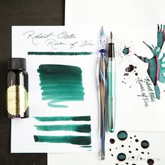 Ignite your fountain pen writing with this brand new ink! Check out Robert Oster River of Fire, a delectable green ink with tantalizing red sheen.
