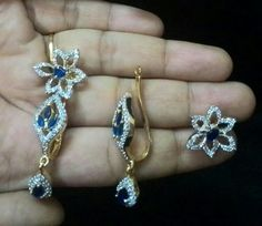 American diamond detchable earings