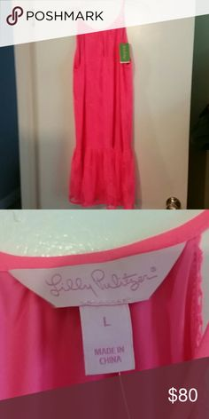 Lilly Pultizer pineapple knit lace Pink lilly dress brand new with tags Lilly Pulitzer Dresses Midi