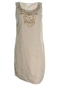 Charter Club Tunic Embellished Linen Dress Scoop Neck Sleeveless Bust Darts NEW #CharterClub #Tunic #Casual