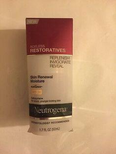 Neutrogena Ageless Restoratives Skin Renewal Moisture SPF 30 Helioplex Celluzyme 70501054314 | eBay Acne Treatment At Home, Cystic Acne Treatment, Homemade Acne Treatment, Acne Out, Greasy Skin, Oily Skin, Acne Remedies, How To Treat Acne, Skin Firming